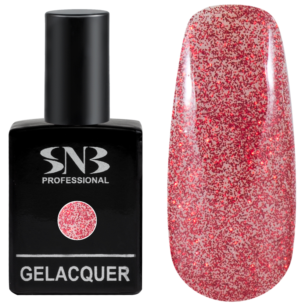 GELacquer SNB 03 Glitter Red 15 ml