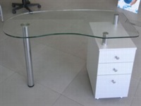Glass Work Table with Small Container