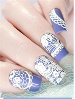 3D Water Decals A9 white