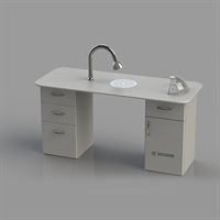 Work Table with Molecular Filtration System GVS white
