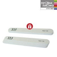 White Straight File SNB 100-150 grit 4 pcs + 2 pcs as a GIFT