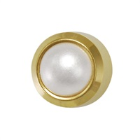 Earrings M301 PEARL yellow