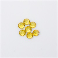 Swarovski Nail Jewel 2.5 mm yellow circle - M