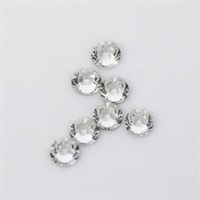 Swarovski Nail Jewel 2.5 mm white circle - M
