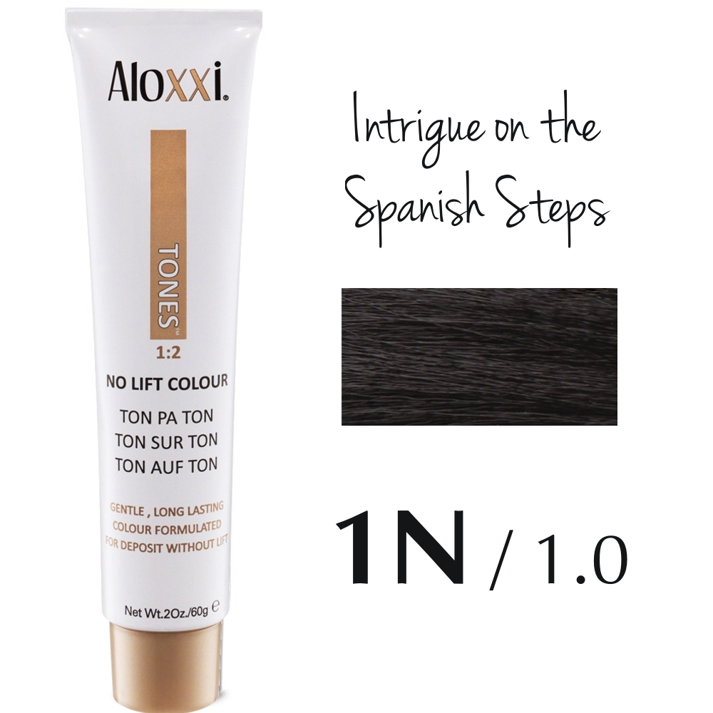 Aloxxi Tones No Ammonia Dye - 1N - Intrigue on the Spanish Steps 60 g