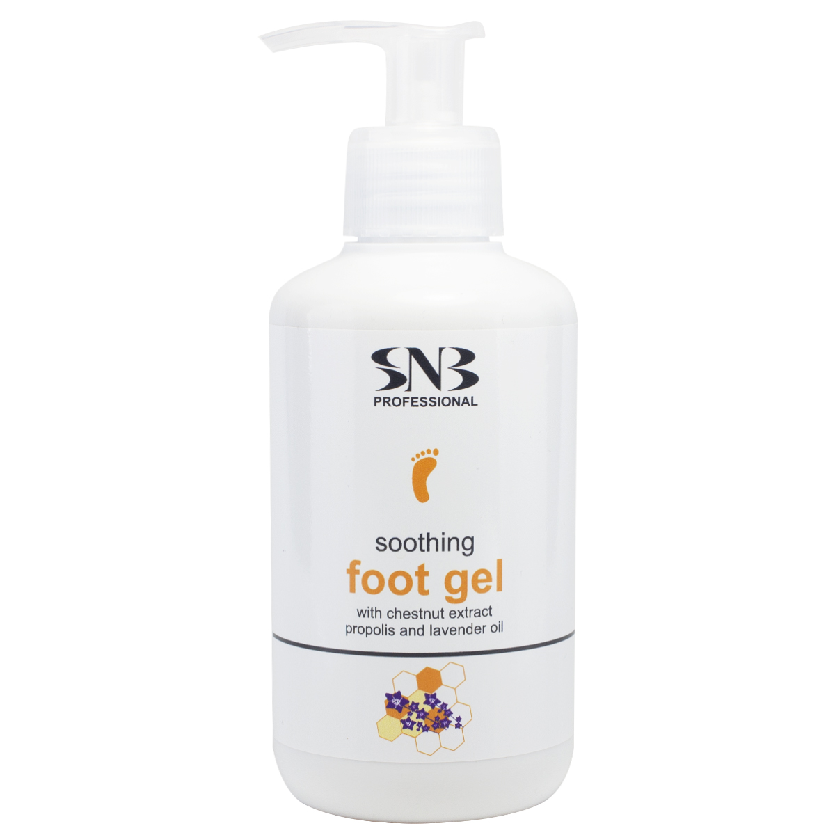 Soothing Foot Gel with Chestnut extract, Propolis and Lavender oil 250 ml